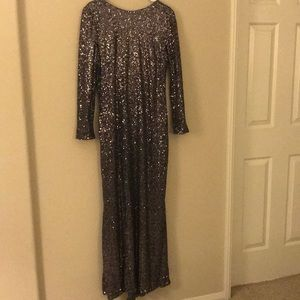 NWOT, Badgley Mischka Fully Sequins Gown